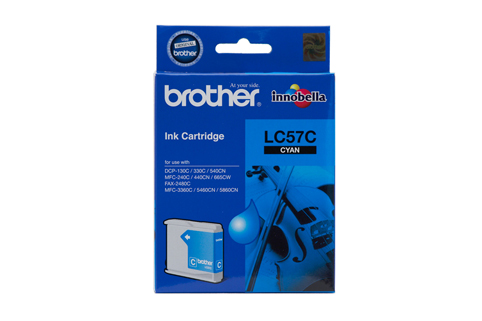 Brother LC57 Cyan Ink (Genuine)