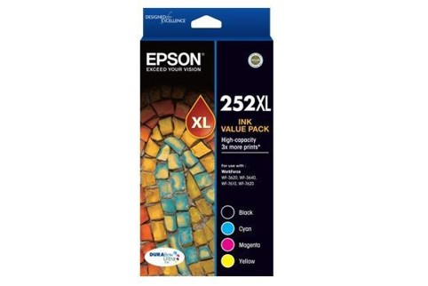 Epson 252XL High Yield Ink Cartridge Value Pack (Genuine)