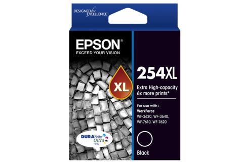 Epson 254XL Extra High Yield Black Ink Cartridge (Genuine)
