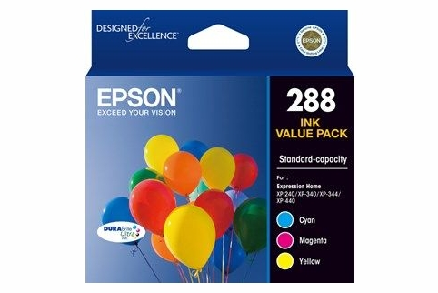 Epson 288 Tri-Color Ink Cartridge Pack (Genuine)