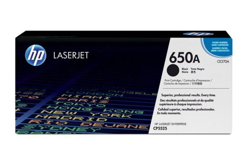 HP CE270A #650A Black Toner Cartridge (Genuine)