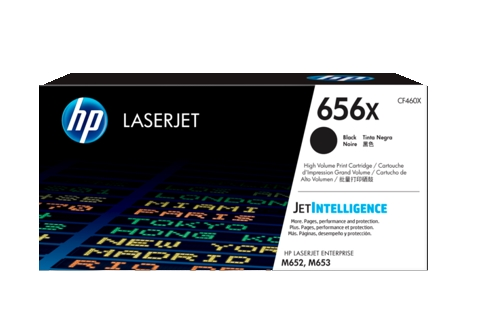 HP #656X CF460X Black High Yield Toner Cartridge (Genuine)
