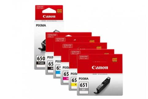 Canon PGI650 + CLI651 MG5460 MG6360 High Yield Ink Pack (Genuine)