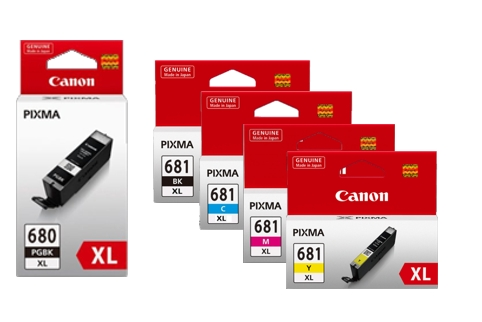 Canon PGI680 + CLI681 5 Colour High Yield Ink Value Pack (Genuine)