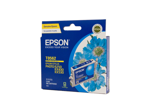 Epson T0562 Cyan Ink (Genuine) for STYLUS PHOTO RX530 printer