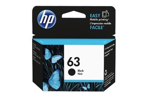 HP #63 F6U62AA Black Ink Cartridge (Genuine)