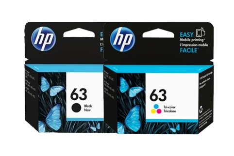 HP #63 DeskJet 2130 3630 Ink Cartridge Combo Pack (Genuine)