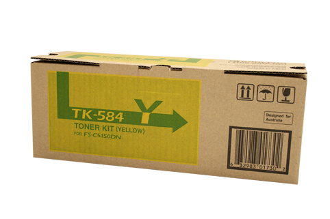 Kyocera TK584 Yellow Toner Cartridge (Genuine)
