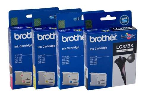 Brother LC37 DCP135C DCP150C MFC260C Ink Pack (Genuine) for DCP150C printer