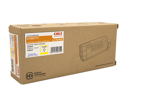 Oki C710N C711N 44318609 Yellow Toner Cartridge (Genuine)