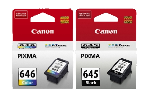 Canon PG645 CL646 MG2560 Combo Ink Pack (Genuine)
