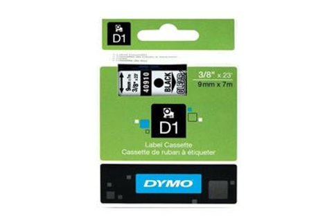 DYMO SD40910 Black on Transparent 9MM X 7M Tape (Genuine)
