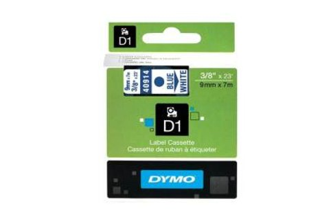 DYMO SD40914 Blue on White 9MM X 7M Tape (Genuine)