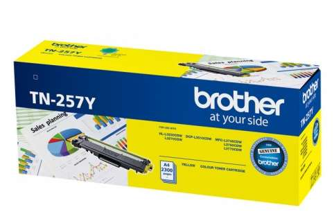 Brother TN257Y Yellow Toner Cartridge (Genuine)
