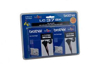 Brother LC37 Black Twin Pack (Genuine)