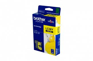 Brother LC38 Yellow Ink (Genuine) for DCP195C printer