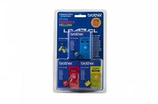 Brother LC47 C/M/Y Colour Pack (Genuine) for DCP120C printer