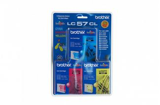 Brother LC57 C/M/Y Colour Pack (Genuine)