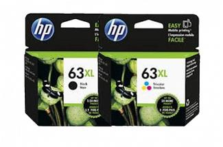HP #63XL DeskJet 2130 3630 High Yield Ink Cartridge (Genuine)