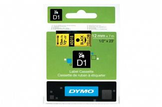 DYMO SD45018 Black on Yellow 12MM X 7M Tape (Genuine)